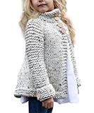 Toddler Baby Girls Autumn Winter Clothes Button Knitted Sweater Cardigan Cloak Warm Thick Coat Beige