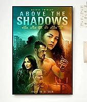 影の上に映画の表紙キャンバスプリントポスターと写真リビングルームの家の装飾のための壁の芸術の写真-50x75CM フレームレス
