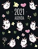 Kawaii Unicornio Agenda 2021: Planificador Annual   Enero a Diciembre 2021   Ideal Para la Escuela, el Estudio y la Oficina