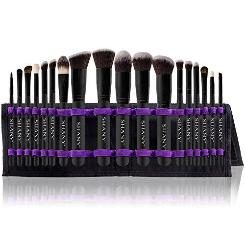 SHANY Artisan's Easel – Elite Cosmetics Brush Collection, Complete Kabuki Makeup Brush Set with Standing Convertible Brush Holder, 18 pcs