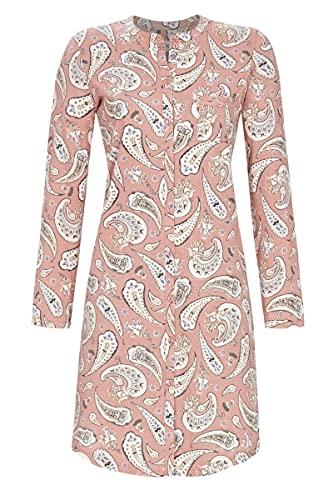 Ringella Damen Nachthemd durchgeknöpft Rosewood 44 1511002,Rosewood, 44