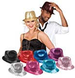 Hut Hat Rot Red Trilby Tribly Fedora Pailletten Schlagerparty schlager Michael