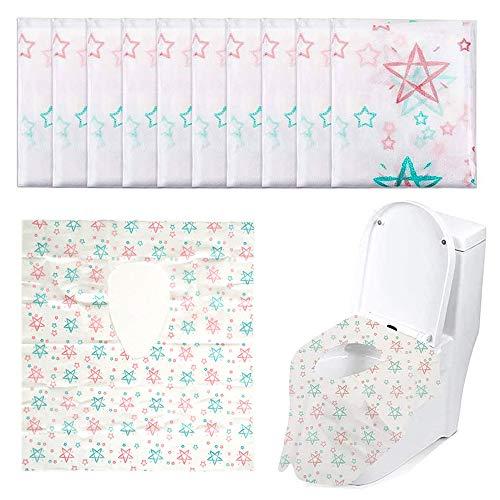 20 Pezzi Potty Seat Cover, Coprisedili Monouso per WC, Formato Tascabile, per Bambini e Adulti, WC Pubblico