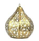 Artigianale - Lampadario marocchino in ferro battuto dorato, stile etnico orientale