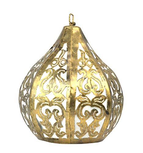 lampadario a sospensione orientale Artigianale - Lampadario marocchino in ferro battuto dorato