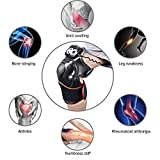 Liapianyun Genouillère Chauffante Genou Physiothérapie Masseur,Chaleur Vibration Therapy Joint Les Muscles D'arthrite Blessure Sportive Soulagement De La Douleur,Noir,European