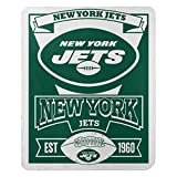 Officially Licensed NFL New York Jets 'Marque' Fleece Throw Blanket, Green, 50' x 60' (1NFL/03102/1015/AMZ)