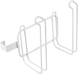 حامل مناديل Cabilock 2 لفة منشفة ورقية للمرحاض حامل مناديل المطبخ الحمام خطاف تعليق (أبيض)