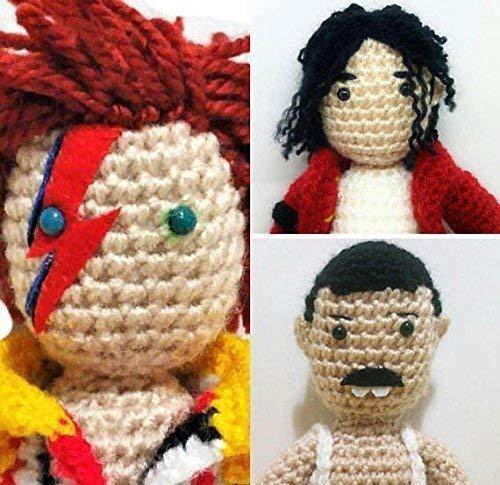 Freddie Mercury, Michael Jackson und David Bowie 3 handgefertigte Puppen. 3 der besten Rockstars aller Zeiten,