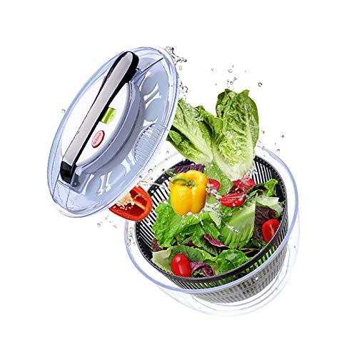 YINAIER Centrifugadora De Lechuga, Lavadora De Verduras, Centrifugadora De Ensaladas Manual, Cesta De Deshidratación De Verduras, Lavadora De Verduras De Cocina, Protege Las Manos