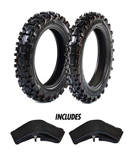 Cheap Protrax Motocross Front 2.50-10 & Rear 2.75-10 Tires w/ 2 Hd Tubes 2.75 X 10 Combo Kit - Soft...
