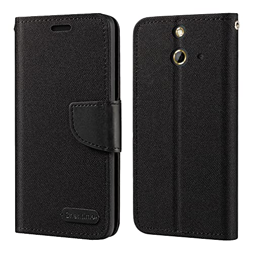 HTC One E8 Hülle, Oxford Leder Wallet Hülle mit Soft TPU Back Cover Magnet Flip Hülle für HTC One E8