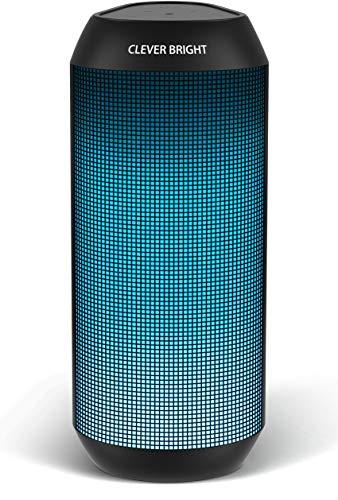 Altavoz Bluetooth con Luz, Altavoz Inalámbrico Portátil Exterior, Efecto de Triple Bajo, Sonido Estéreo TWS, Speaker Bluetooth 5.0, Micrófono Incorporado, USB, Aux, para Fiestas, Al Aire Libre, Viaje