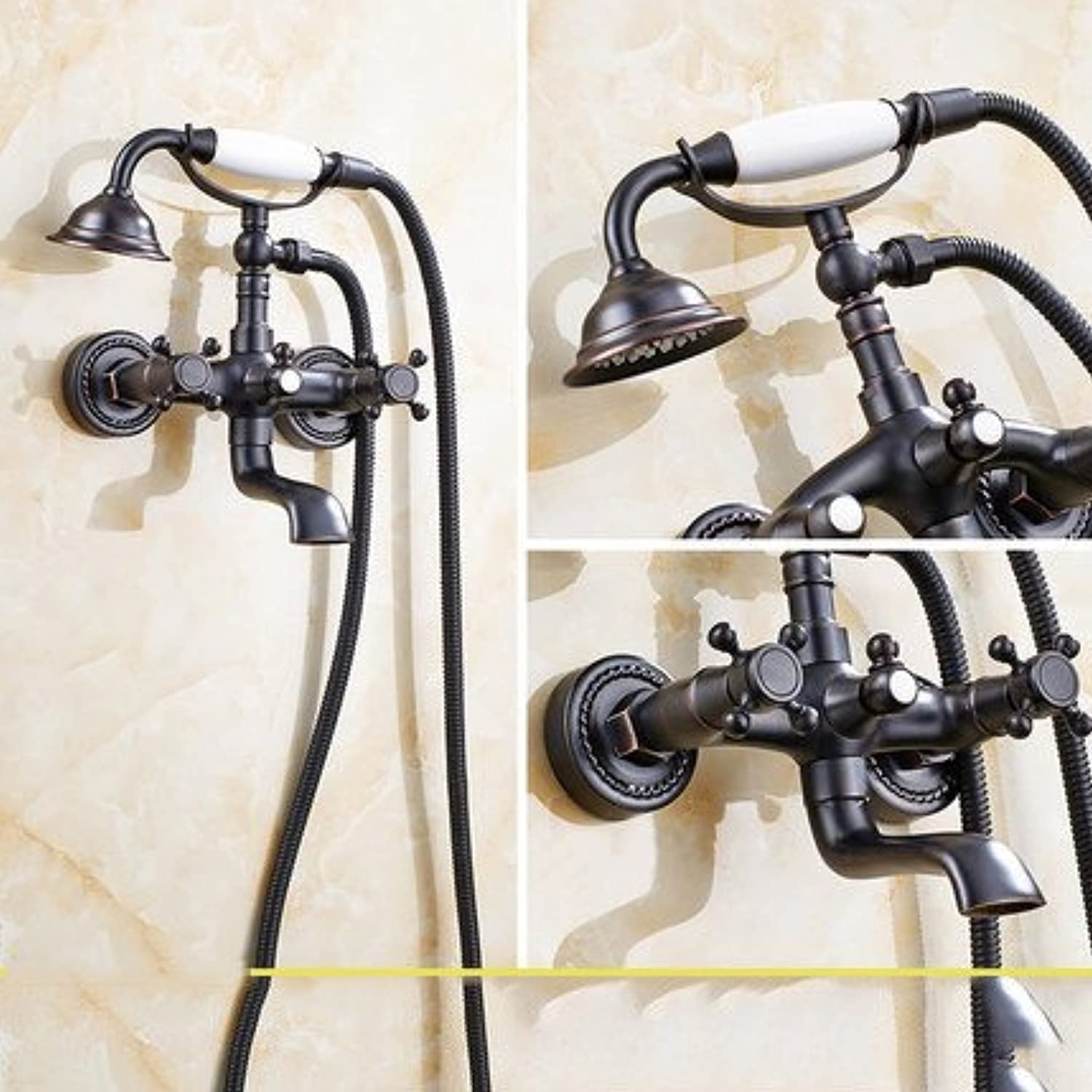 ZXY-All copper Black Bronze hand-held simple sprinkler suit bathtub shower shower cold water hot water hot water