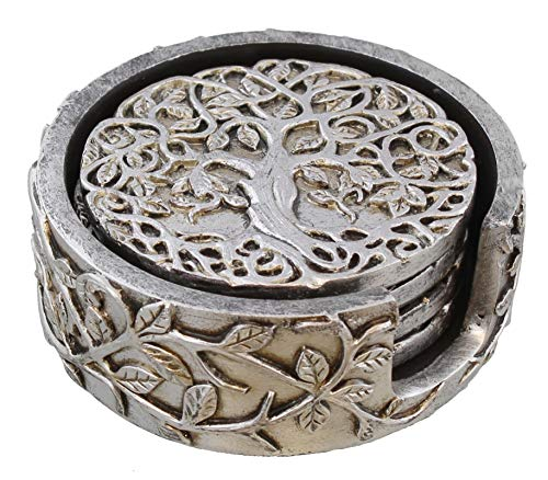Old River Outdoors Decorative Tree of Life Coaster Set - Celtic Art