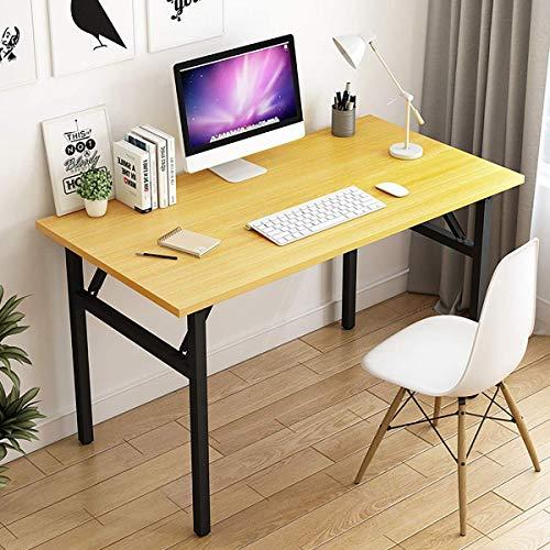JONJUMP Escritorio plegable de madera para ordenador portátil, escritorio portátil para oficina en casa, mesa de escritura, escritorio de ordenador, muebles de estudio