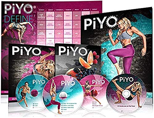 Qspeed PiYo Base Kit 5 DVDs Workout with Exercise Videos & Fitness Tools and Nutrition Guide by Chalene Johnson