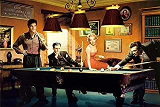 lihuaiart-James Dean,Marilyn Monroe,Elvis Presley,Humphrey Bogart,2 Sizes,Art Home Wall Decorations for Bedroom Living Room Oil Paintings Canvas Prints-584 (Unframed,16x24inch)