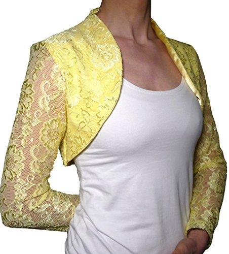 Elegante vestido corto para ceremonia de encaje y raso cárdigan para bodas,...