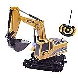 ERWEF Lega Escavatore a Distanza Escavatore di Controllo, Elettrico Ricaricabile Toy Car Escavatore