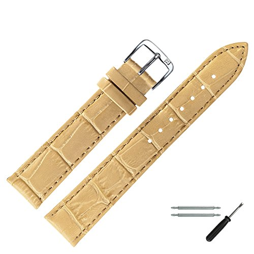 MARBURGER Uhrenarmband 16mm Leder Camel Alligator - Werkzeug Montage Set 1431623000120