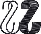 30 ganchos en forma de S de acero inoxidable en forma de S para colgar ropa,...
