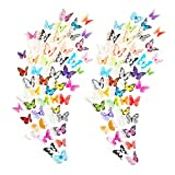 Eoorau 73PCS Butterfly Wall Decals - 3D Butterflies Decor for Wall Removable Mural Stickers Home Decoration Kids Room Bedroom Decor