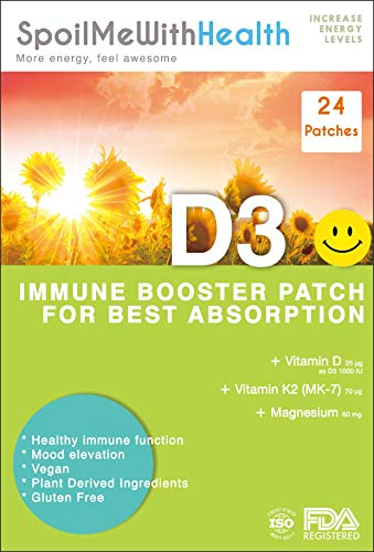 SpoilMeWith Health: Kids: Vitamin D3 Patches. Gentle New Formula. 24 Week Supply