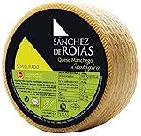 Sánchez de Rojas | Queso Manchego Semicurado Ecológico | 2kg | Queso de Oveja Elaborado con Leche Pasteurizada | con Denominación de Origen Protegida | Sabor Suave | Quesos Gourmet | Pieza Entera