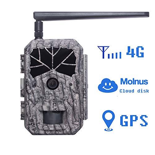 BolyGuard 4G Wildkamera Fotofalle 36MP 1080P HD Jagdkamera Nachtsicht Bewegungsmelder MMS GPRS IP66 Wasserdichter& Staubdicht Infrarot sensor 110° Weitwinkel Nachtsichtkamera