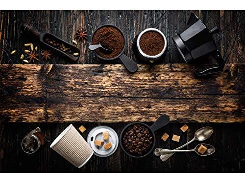 Oedim Stickers muraux Photo Image | Ustensiles de café | De 500 x 300 cm | Sticker Vinyle Adhésif Autocollant Fond Mural |