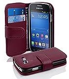 Cadorabo Coque pour Samsung Galaxy Trend Lite ORCHIDÉE Violets Housse de Protection Etui Portefeuille Cover pour Trend...