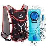 BTNEEU Mochila de Hidratación Ligero, Mochila con Bolsa de Agua 2L para Mujer Hombre, 6L Respirable...