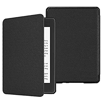 Fintie Slimshell Case for All-New Kindle Paperwhite  10th Generation 2018 Release  - Premium Lightweight PU Leather Cover with Auto Sleep/Wake for Amazon Kindle Paperwhite E-Reader Black
