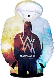 Hip Hop Streetwear Alan Walker DJ Felpe con cappuccio di alta qualità Felpa con cappuccio uomo Donna con cappuccio con cerniera casuale allentato