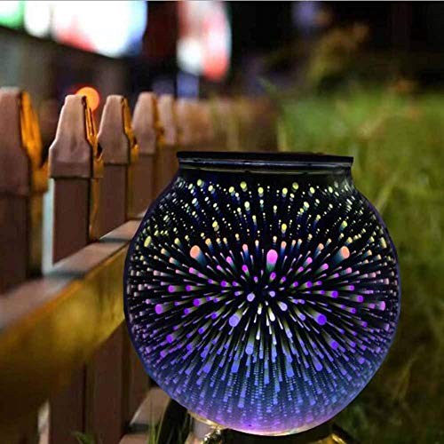 XSYL Solar tafellampen kleurverandering zonne-aangedreven tafellamp kristallen glas bal licht 115 mm diameter indoor/outdoor decoraties voor kerstfeest vakantie terras binnenplaats, A