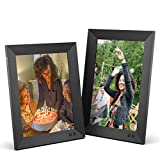 Nixplay Smart Digital Picture Frame Bundle - 10 Inch and 9.7 Inch Black with 2K Display