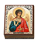 Guardian Angel Icon Box for Rosary Prayer Beads Russian Wooden Hand Made Box 5 Inch, Religious Gift