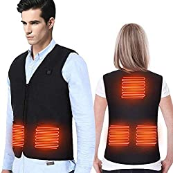 DOACT Mens Vest Heating Pad, Sauna Vest for Men Women Back Heating Pad, Motorcycle Vest with Electric Heating Pad, Infrared Heating Pad Fishing Vest, Running Vest Heated Jacket (M)