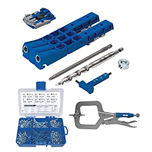 Kreg Pocket-Hole Jig 320 with Screw Kit and Clamp (3 Items) from Kreg
