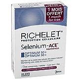 RICHELET 50 Selenium ACE AntiOxydants 50+ Protection Cellulaire - Optimum 50+ Lot de 2 Boites de 90 Comprimés + 30 Comprimés Gratuit