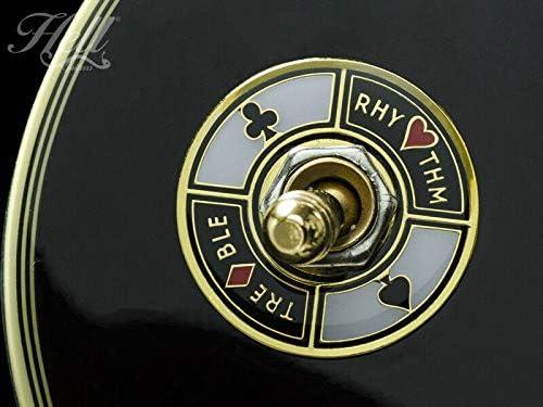 ギター スイッチワッシャー Gibson/エピフォンなど 多機種に対応!100%真鍮&エナメル Hell Guitarsオリジナルデザイン Full Houseゴールド