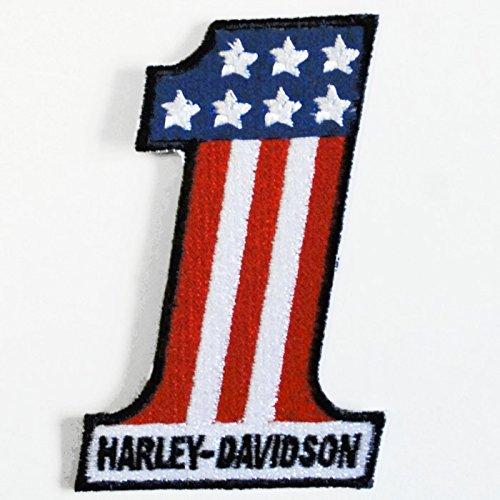 ハーレー ナンバーワン ロゴ 刺繍ワッペン No.1
