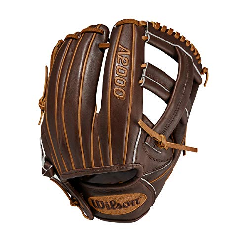 Wilson A2000 11.75-Inch SuperSkin Baseball Glove, Walnut/Saddle Tan, Left (Right Hand Throw)