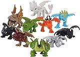 Kshong 10 pcs / Set 2.5-4.5 cm Cómo Entrenar a tu dragón Toothless Deadly Nadder Gronckle Mini Figura Muñeca PVC Modelo Lindo Juguetes muñeca de Anime Regalo
