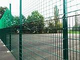 Sport-Thieme Ballfangnetz-Anlage mit Doppelstabmatte, 40 m, 40x6 m, Moosgrün