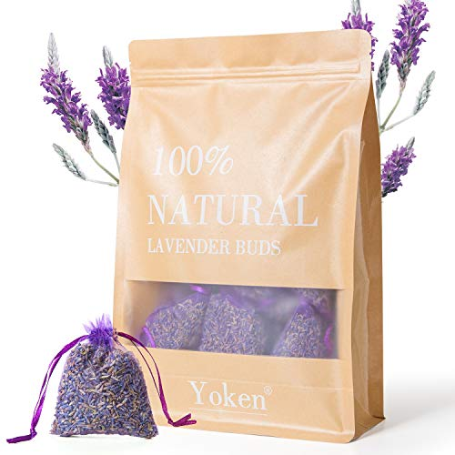 Yoken Natural Lavender Sachets Scented Sachets for Drawers and Closet, 24 Pack Sachet Packets for Car & Home
