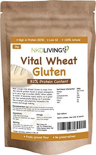 Vital Wheat Gluten 1kg de NKD Living avec 82% de protéines…