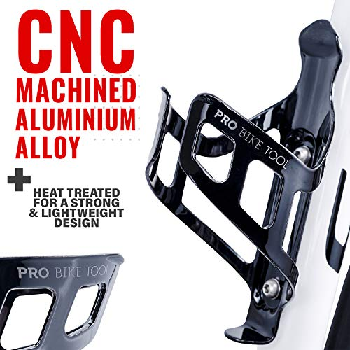 Bike Water Bottle Holder, Black or White Gloss, Secure Retention System, No Lost Bottles, Lightweight and Strong Bicycle Bottle Cage, Quick and Easy to Mount, Great for Road and Mountain Bikes
