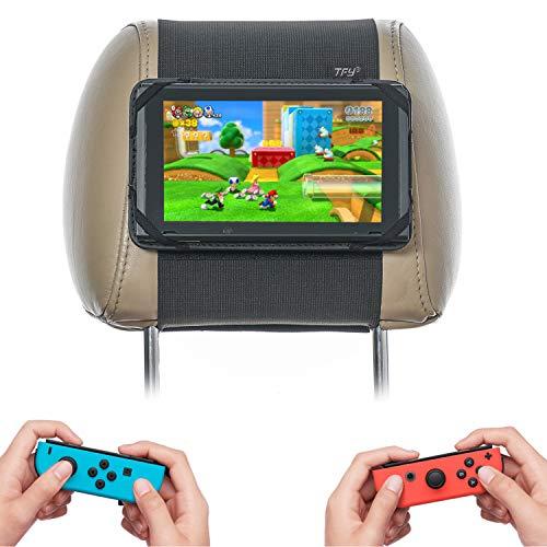TFY Kfz-Kopfstützenhalterung, Fahrzeug-Halterung, kompatibel mit Nintendo Switch